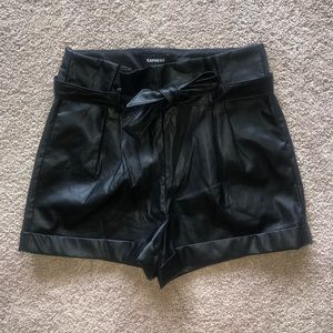 NWT Size 10 Leather Shorts from Express